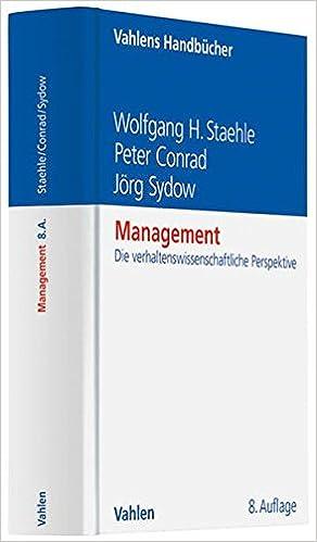 management eine verhaltenswissenschaftliche perspektive
