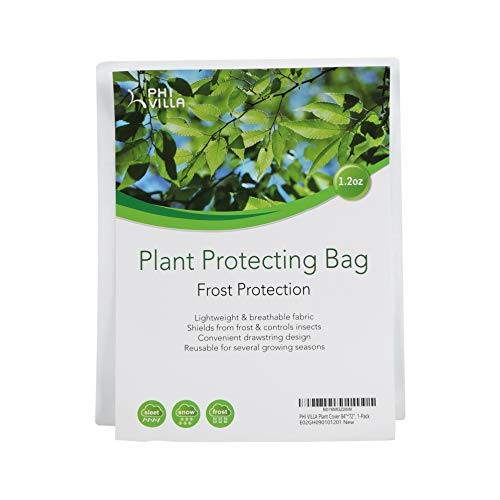 PHI VILLA Plant Protector Bag Frost Protection Cover Plant Cover, 1.2 oz, 84″ x 72″, 1-Pack
