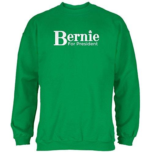 Old Glory Election 2016 Bernie Sanders President Irish Green Adult Sweatshirt - X-Large ()