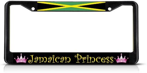 Jamaica Heavy Duty Stainless Steel Chrome License Plate Frame Car Tag Holder ...
