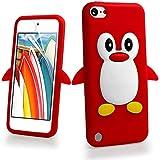 غطاء Penguin 3D Cartoon Apple iPod touch 5 (الجيل الخامس) / Touch 6 (الجيل السادس) احمر