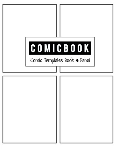 - Comic Book 4 Panel: Templates Comic Blank Book Panel Strip, Comic Book Drawing, Design Sketchbook Journal, Artist's Notebook, Strips Cartoon, Draw Your Own Comics, White Cover, Size 8.5 x 11 Inch
