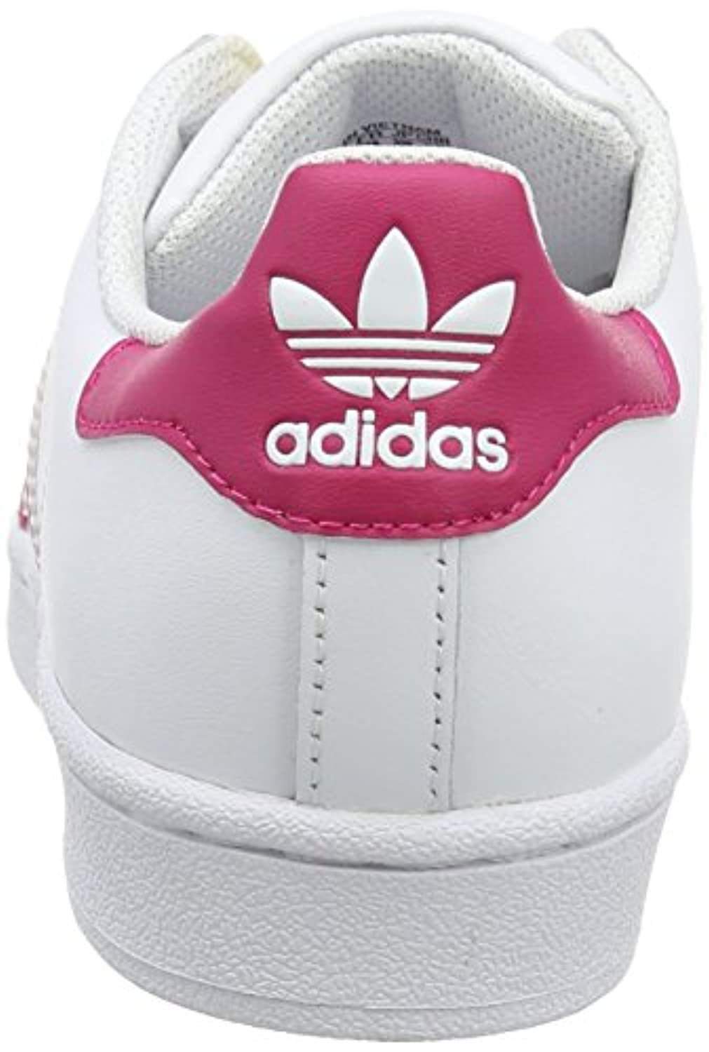 adidas Originals Girls' Superstar Foundation Low-Top Sneakers White Size: 3 UK