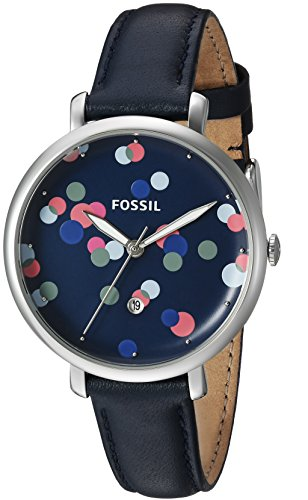 Fossil-Womens-ES4103-Jacqueline-Three-Hand-Blue-Leather-Watch