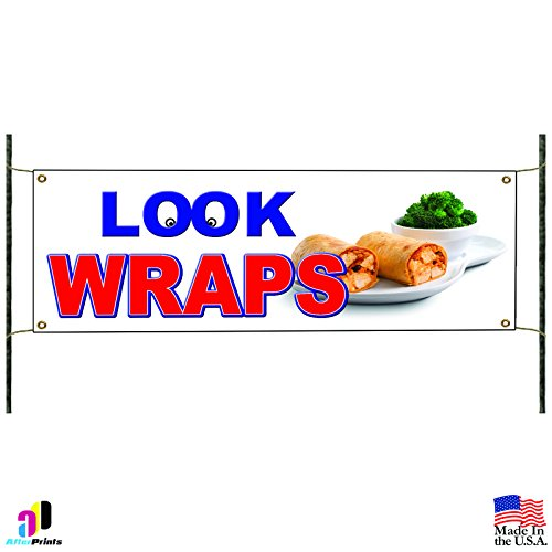 Chicken & Beef Wraps Concession Stand Mexican Food Advertising Vinyl Banner Sign Beef Wrap