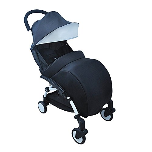 Chinatera Universal Baby Jogger Footmuff Stroller Buggy Pushchair Pram Foot Cover (Black)