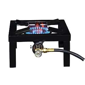 Mr. Heater F235825 Basecamp Single Burner Angle Iron Camping Stove, Black