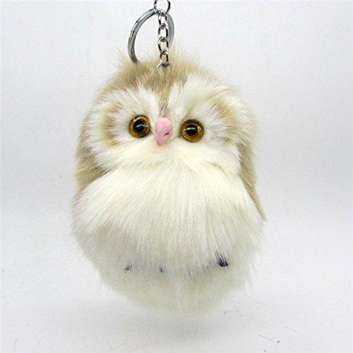 1 Pc Mini Pocket Fluffy Owl Fur Pompom Keychain Keyring Keyfob Rabbit Trinkets Key Chain Ring Fob Tag Holder Finder Necklace Unblemished Popular Cute Wristlet Utility Keychains Tool Girl Gift, Type-08