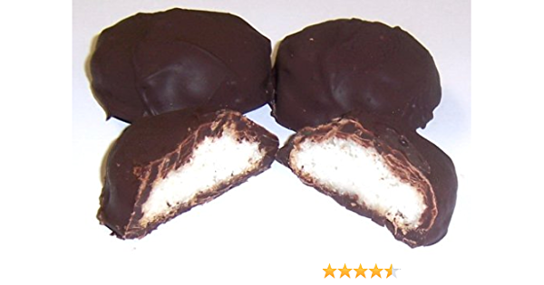 Amazon Com Scott S Cakes Dark Chocolate Covered Coconut Macaroons In A 1 Pound White Bakery Box Meringue Cookies Grocery Gourmet Food