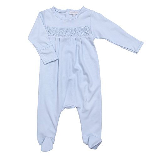 Magnolia Baby Baby Boy MB Essentials Smocked Footie Solid Blue 3 Months by Magnolia Baby