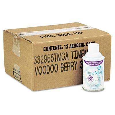 TimeMist 1042727 Metered Fragrance Dispenser Refill, Voodoo Berry, 5.3 oz, Aerosol (Case of 12)