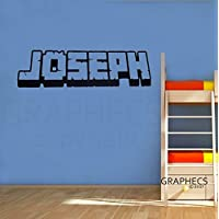 Personalized Gaming 3D Wall Decal - Choose your NAME Custom Gamer Room Vinyl Decal Sticker Decor Kids Bedroom