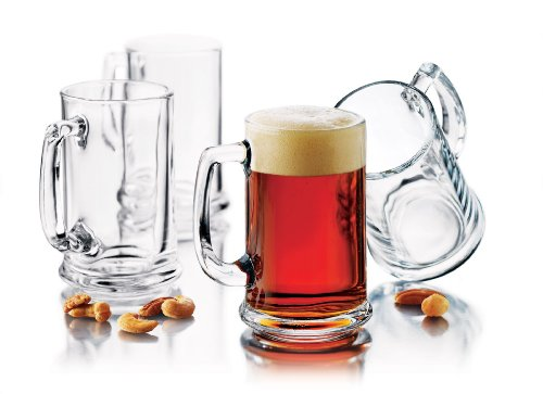 - Libbey Brewmaster 15-Ounce Beer Mug 6-Piece Set, Clear