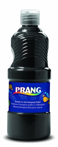 Prang Ready-to-Use Liquid Tempera Paint, 32-Ounce Bottle, Black (23208)