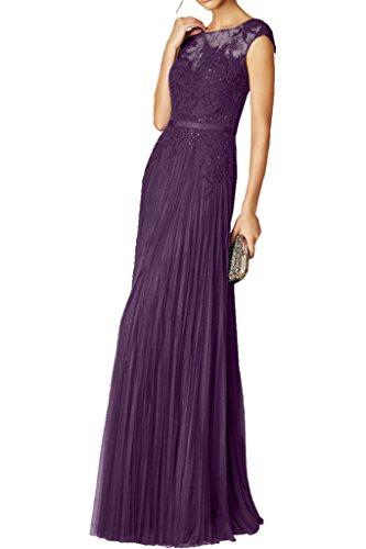 La Langes Partykleider mia Neu Navy Ballkleider Dunkel Royal Figurbetont Abendkleider Braut Spitze Blau Blau Chiffon Festlichkleider rBra4qxw