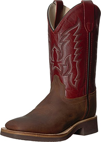 - Old West Kids Boots Unisex Broad Square Toe Crepe (Toddler/Little Kid) Brown 2 M US Little Kid