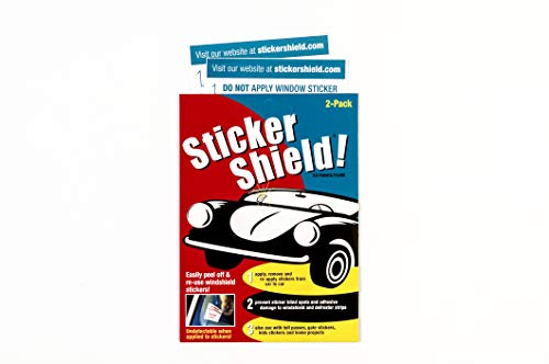 Sticker Shield SSMP11122-1 Transparent 1 Pack (2 Total) Windshield Sticker Easy, Removal and Re-Application Car-4 inch x 6 inch (Pack of 2 Sheets)