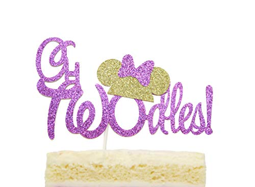 Twodles Cake Topper Minnie Mouse Inspired Two Year Birthday Cake Decor -