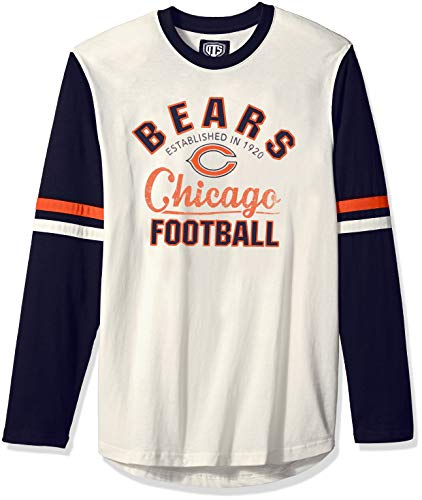 NFL Chicago Bears Male OTS Chisel Long sleeve Crew Tee, Cream, Large ()