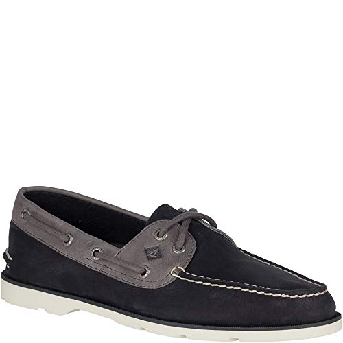 SPERRY Men's, Leeward Boat Shoe Black Nubuck 7 M (Sperrys Loafers Men)