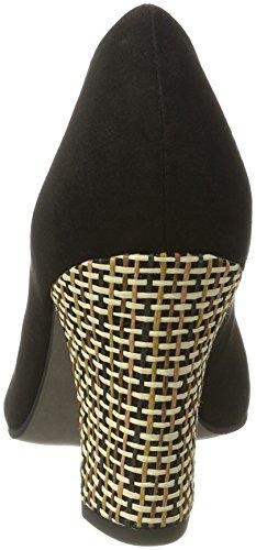 Tamaris 22416, Zapatos de Tacón para Mujer Negro (BLACK/SISAL 042)