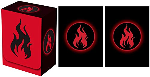 (Legion Supplies Absolute Iconic Red Fire Deck Box with 100 Sleeves)
