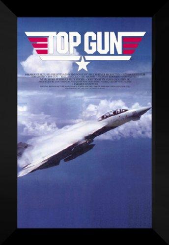 Top Gun 27x40 FRAMED Movie Poster - Style C - 1986