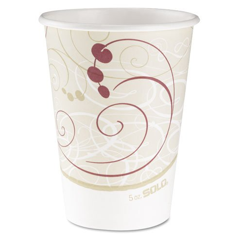 SOLO Cup Company Hot Cups, Symphony Design, 12oz, Beige - Includes 20 packs of 50 each.