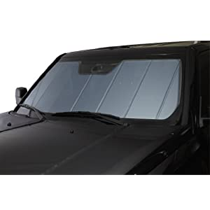 Covercraft UVS100 - Series Heat Shield Custom Fit Windshield Sunshade for Select Chevrolet/GMC Models - Laminate Material (Blue Metallic)