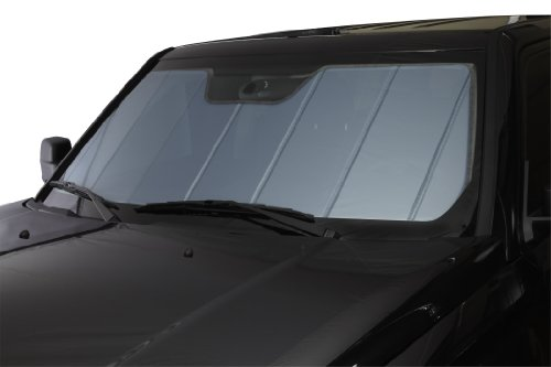 Covercraft UVS100 - Series Heat Shield Custom Fit Windshield Sunshade for Select Ford F-150 Models  - Laminate Material (Blue Metallic) (F150 Sun Visor)
