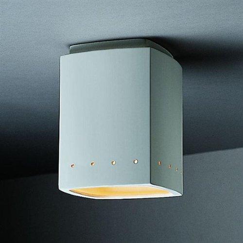 Justice Design Group Radiance Collection 1-Light Flush-Mount - Bisque ()