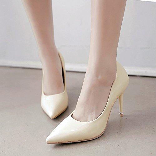 6bc2bad74a87 Mee Shoes Damen Stiletto spitz Geschlossen Pumps Beige - liv-stuck ...