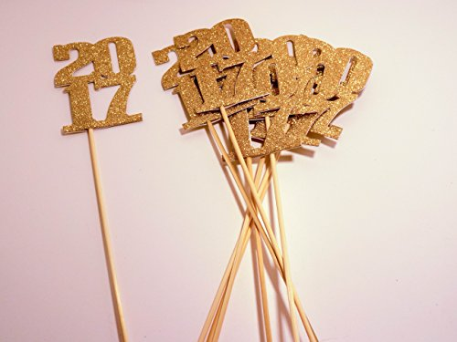 2017 Centerpiece Sticks for DIY Graduation Decor (Centerpieces For Graduation Parties)