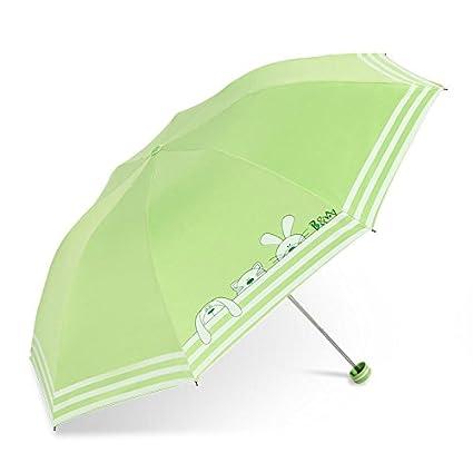 Paraguas plegable automatico Mujer niño Hombre an- Sombrilla Plegable con protección Solar con Tres filtros