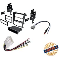 Nissan Altima 2007-2011 Double Din Radio Stereo Installation Dash Kit + Wire Harness and Antenna Adatper