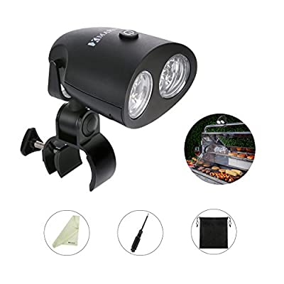 MARNUR BBQ Grill Light LED Electric Barbecue Light Ultra Brightness Levels with 360°Adjustable Illuminating Angle for Outdoor Garden Camping Reading and Hiking