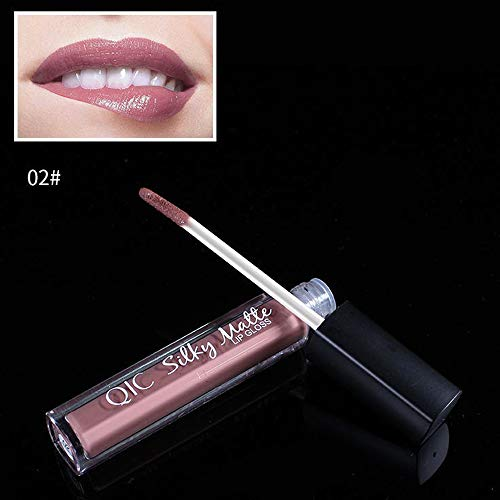 FORUU Women's Lipstick, 2019 Valentine's Day Surprise Best Gift For Girlfriend Lover Wife Party Under 5 Free delivery Makeup velve Brown Nude Chocolate Color Liquid Lip Gloss (Difference Between List Price And Selling Price)