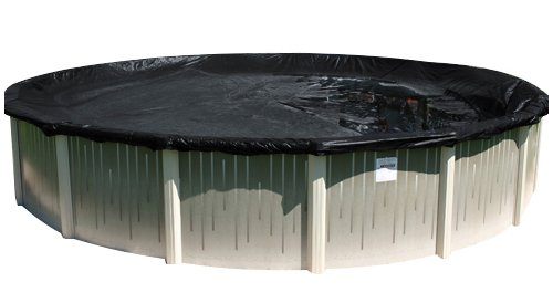Buffalo Blizzard Micro Mesh Black Winter Cover for 27-Foot or 28-Foot Round Above-Ground Swimming Pool | 3-Foot Additional Material | Allows Rain or Melted Snow to Pass Through | Leaving Debris Behind