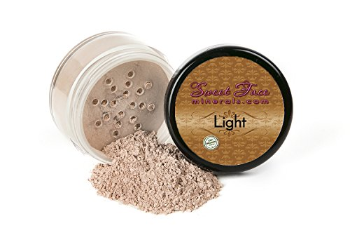 LIGHT FOUNDATION Sample to Bulk Sizes Mineral Makeup Matte Jar Bare Face Powder Sheer Natural Cover (30 Gram Jar)