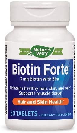 Nature's Way Biotin Forte  3mg with Zinc (Packaging May Vary)
