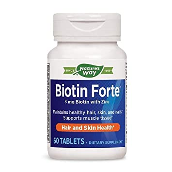 Amazon.com: Enzymatic Therapy Biotin Forte tabletas con Zinc ...