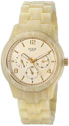 Guess W13572l2 Ladies Mini Spectrum Cream Plastic Bracelet Watch