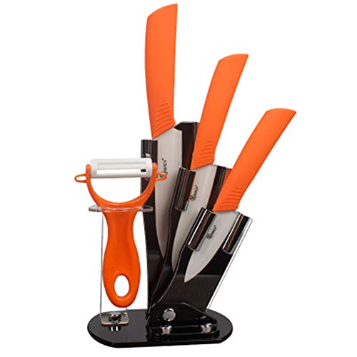 zirconia kitchen ceramic knife set with hollow handle kitchen knife cooking toolsorange30cm