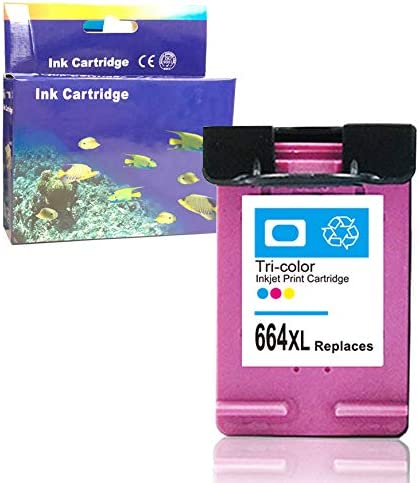 ZET Remanufactured Ink Cartridge Replacement for HP 664 XL 664XL Used in DeskJet 1115 2136 3636 3836 4536 4676 Printer Color, 1 Pack