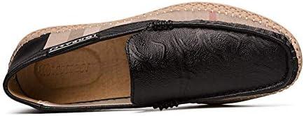 靴を運転メンズカジュアルシューズはレザーフラットシューズソリッドライトラウンドヘッドアウトドアカジュアルローファー 快適な男性のために設計