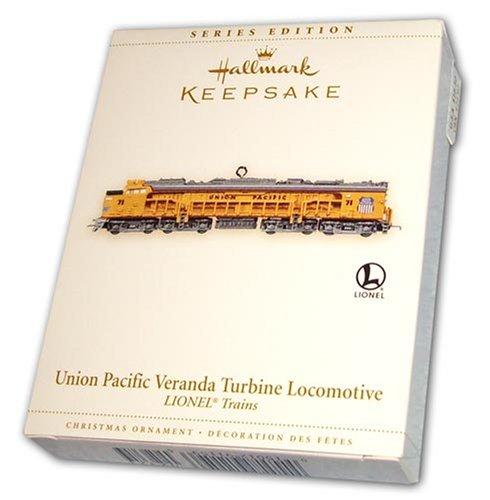 Union Pacific Train Crew (Union Pacific Veranda Turbine Locomotive Lionel Trains Christmas Ornament)