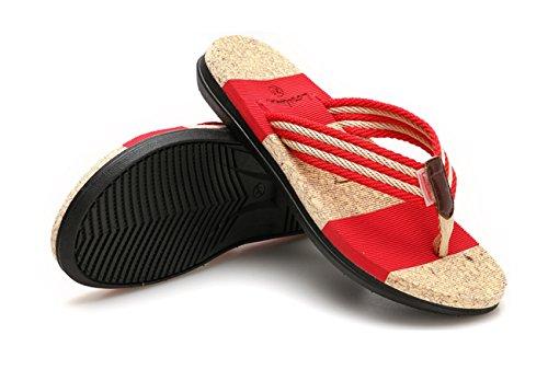 ragazze signore all'aperto Surf antiscivolo comodi Rosso viaggio da donne pantofole Donna sandali scarpe infradito infradito Nuova in Huaishu delle spiaggia estate Sandali casa nO78w64