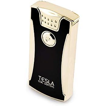 Tesla Coil LightersTM USB Rechargeable Windproof Dual Arc Lighter (Gold)