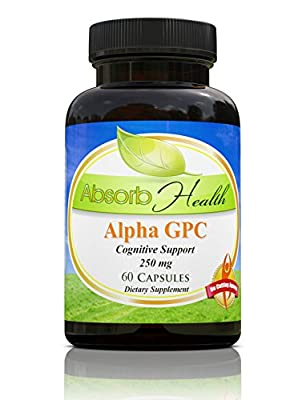 Alpha GPC | 250mg 60 Capsules | Powerful Cognitive Enhancer | Raises Brain Choline Levels the Most of Any Choline Supplement