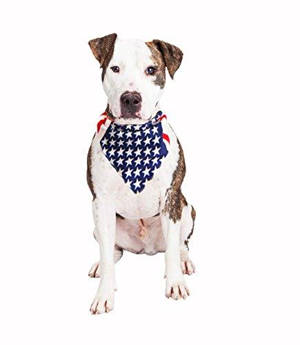 American Flag Pet Bandana - Handmade Large Dog or Cat Handcrafted Flag Design Bandana for Pets